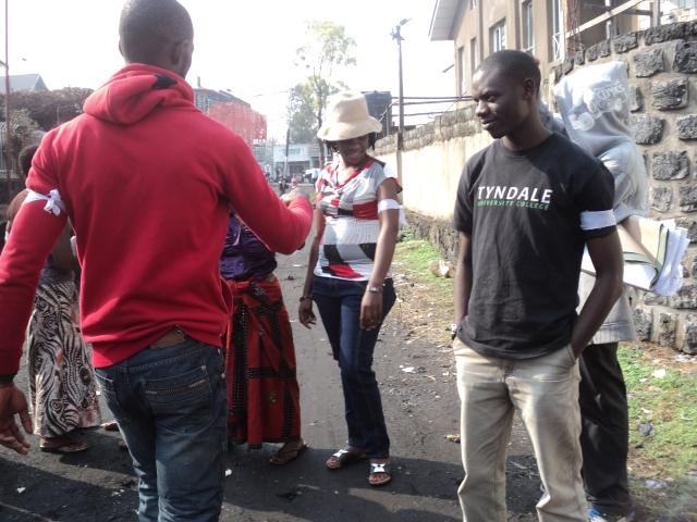 Manifestation pacifique de la Lucha (Lutte pour le changement) au gouvernorat du Nord – Kivu  à Goma, pour la libération de l'Honorable Nzangi Butondo