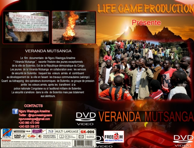 Cover of Veranda Mutsanga documentary film. Photo : Anselme Nguru Wasingya