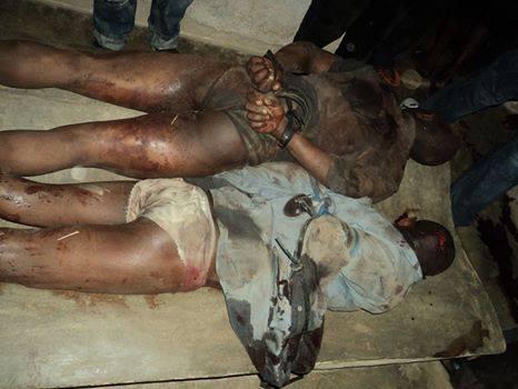 Les corps des personnes  tuées ligotées par les présumés Adf à Beni/ Crédit photo : Pascal Muhindo Mapenzi